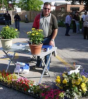 Strathroy Farmers' Market manager Daryl Bycraft