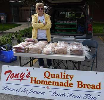 Shirley Bruinink from Tony's Quality Homemade Bread