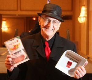 Art Fidler hams it up at the Dish Awards