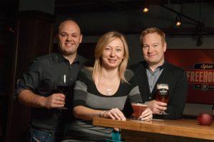 Chef/owners Robbin Azzopardi and Kathryn Banasik, with Chef Joshua Sawyer