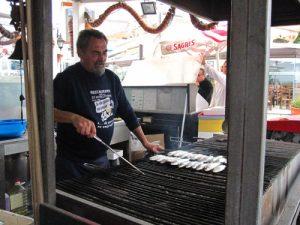 Freshly grilled sardines, at Ze Morgadinao