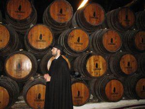 The Sandeman cellars in Porto