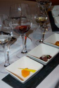 Sampling food and wine pairings at Peller Estates