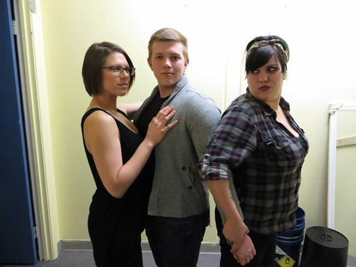 Kayla Rock (Mary), Trevor Richie (Jesus) and Jenn Marino (Judas)