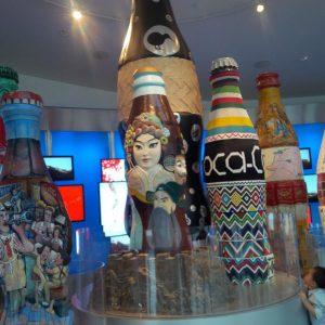 The Coca-Cola museum is located next to the Atlanta aquarium
