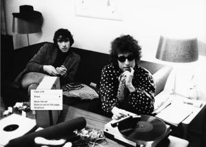Richard Manuel with Bob Dylan